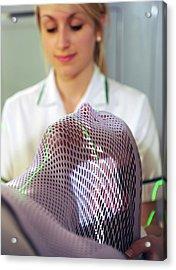 Radiotherapy Mask Acrylic Print