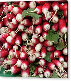 Radish Stack Acrylic Print by Art Block Collections