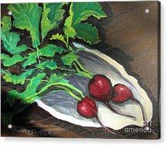 Radishes Acrylic Print by Gretchen Allen