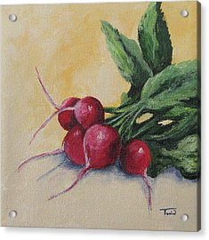 Radishes Acrylic Print by Torrie Smiley