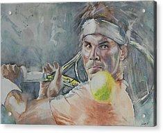 Rafa Nadal - Portrait 2 Acrylic Print