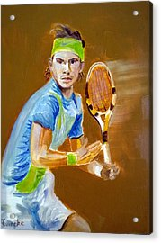 Rafa Nadal On The Ball Acrylic Print