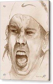 Rafael Nadal Acrylic Print by Nan Wright