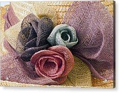 Raffia Roses Macro Acrylic Print