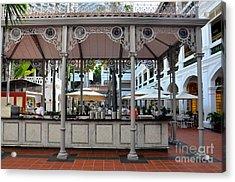 Raffles Hotel Courtyard Bar And Restaurant Singapore Acrylic Print by Imran Ahmed