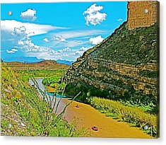 Rafting In Santa Elena Canyon In Big Bend National Park-texas Acrylic Print by Ruth Hager