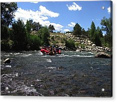 Rafting The River Acrylic Print by Steven Parker