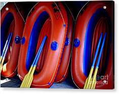 Rafts Waiting Acrylic Print