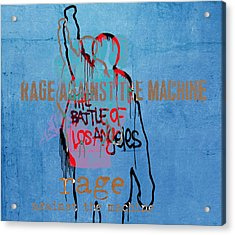 Rage Against The Machine Acrylic Print by Dan Sproul