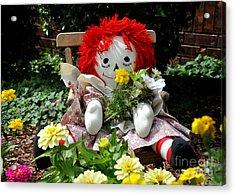 Raggedy Ann's Garden Acrylic Print by Nava Thompson