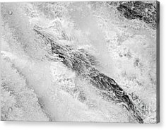 Raging - Close Up Of A Roaring Waterfall Acrylic Print
