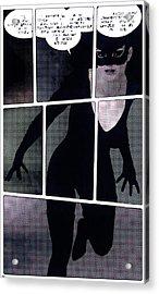 Raging Kitty Acrylic Print by Maynard Ellis