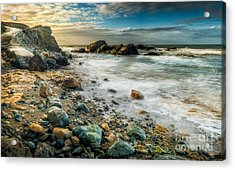 Raging Sea Acrylic Print by Adrian Evans