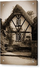 Rags Corner Cottage Nether Wallop Olde Sepia Acrylic Print