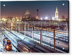 Rail Access Line Of Large Station Acrylic Print