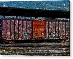 Rail Car Art Acrylic Print by R McLellan