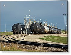 Rail Cars Carrying Lpg Acrylic Print