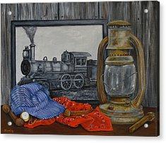 Rail History Acrylic Print