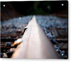 Rail Line Acrylic Print by Greg Simmons