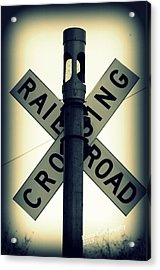 Rail Road Crossing Acrylic Print
