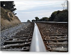 Rail Rode Acrylic Print by Gandz Photography