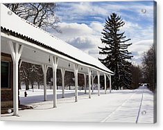 Rail Stop Acrylic Print by Peter Chilelli