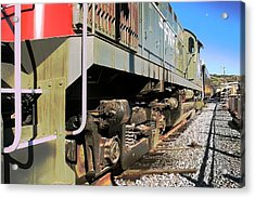 Acrylic Print featuring the photograph Rail Truck by Michael Gordon