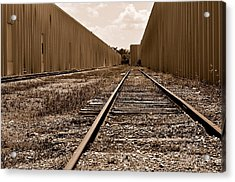 Railroad Acrylic Print by Andres LaBrada