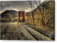 Railroad Bridge Acrylic Print by Brenda Bostic
