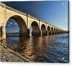 Railroad Bridge Acrylic Print by Chris Babcock