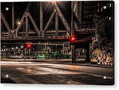 Railroad Bridge Acrylic Print by Ray Congrove