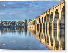 Railroad Bridge Acrylic Print by Sharon Batdorf