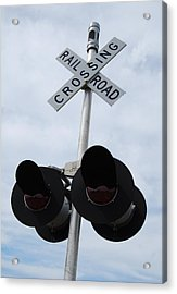 Acrylic Print featuring the photograph Railroad Crossing by Ramona Whiteaker