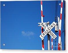 Railroad Crossing Sign Acrylic Print