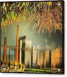 Railroad Park #latergram #abstract Acrylic Print