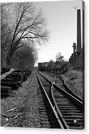 Railroad Siding Acrylic Print by Greg Simmons
