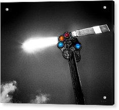 Railroad Signal Acrylic Print by Bob Orsillo