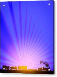 Railroad Sunrise Acrylic Print