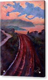 Railroad Acrylic Print by Susan Will