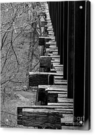 Acrylic Print featuring the photograph Railroad Ties On Trestle Bridge by Kristen Fox
