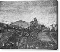 Railroad To Coal Mine. Acrylic Print