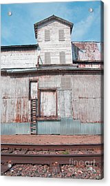 Railroad To The Past Acrylic Print by Minnie Lippiatt