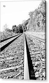 Acrylic Print featuring the photograph Railroad Track by Joe  Ng