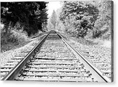 Railroad Tracks Acrylic Print by Athena Mckinzie
