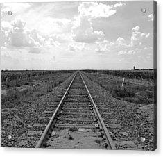 Railroad Tracks Acrylic Print
