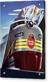 Railroad Travel Poster Acrylic Print