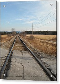 Rails And Lines Acrylic Print