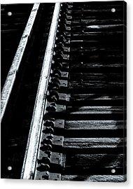 Rails And Ties Acrylic Print by Bob Orsillo