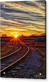 Rails Acrylic Print by Skip Tribby