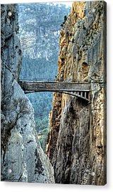 Railway Bridge In El Chorro Acrylic Print